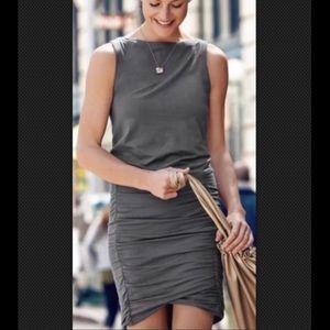 Athleta Dark Gray Cotton Tulip Dress - Size S